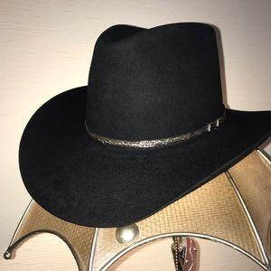 Size 7 Like New Resitol Black Long Westren Hat